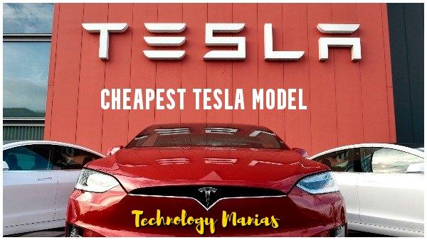 Cheapest tesla model